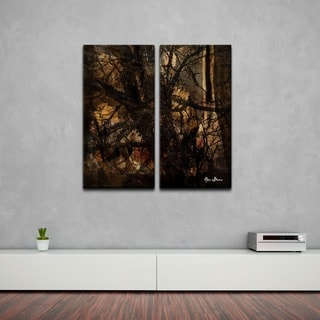 Alexis Bueno 'Tree Study' Oversized Abstract Canvas Wall Art (2-Piece)