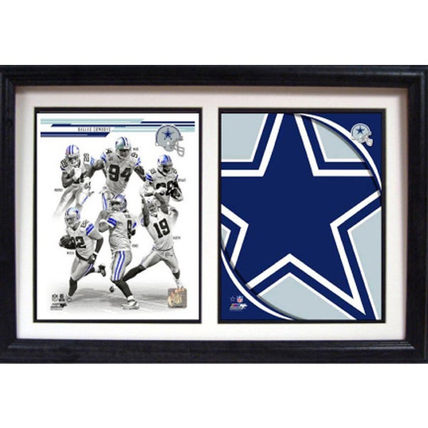 2013 Dallas Cowboys 12 x 18 Custom Double Frame