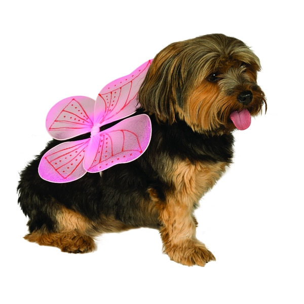 Rubies Pink Fairy Wings Pet Costume