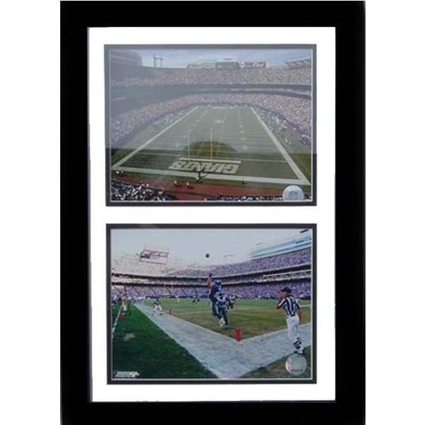 New York Giants MetLife Stadium 12 X 18 Custom Framed Double Print