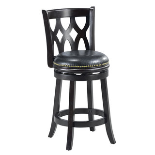 Valencia Black Triple Crossback 24-inch Counter Stool