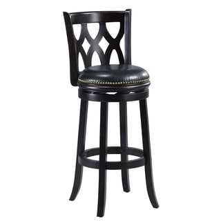 Livingston Black Floral Back Swivel Counter Stool