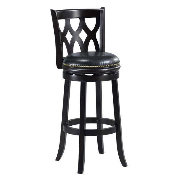 Valencia Black Triple Crossback 29-inch Barstool