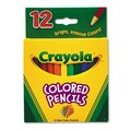 Crayola Short Barrel Colored Woodcase Pencils 3.3 mm 12 Assorted Colors/Set