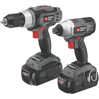 Porter Cable 18-volt NiCD Drill/ Impact Driver 2-tool Kit