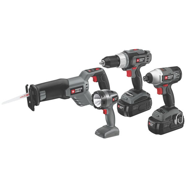 Porter Cable 18-volt NiCD 4-tool Combo Kit