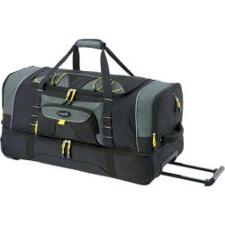 Travelers Club Sierra Madre 36in 2Sec. Drop Bottom Rolling Duffel Black
