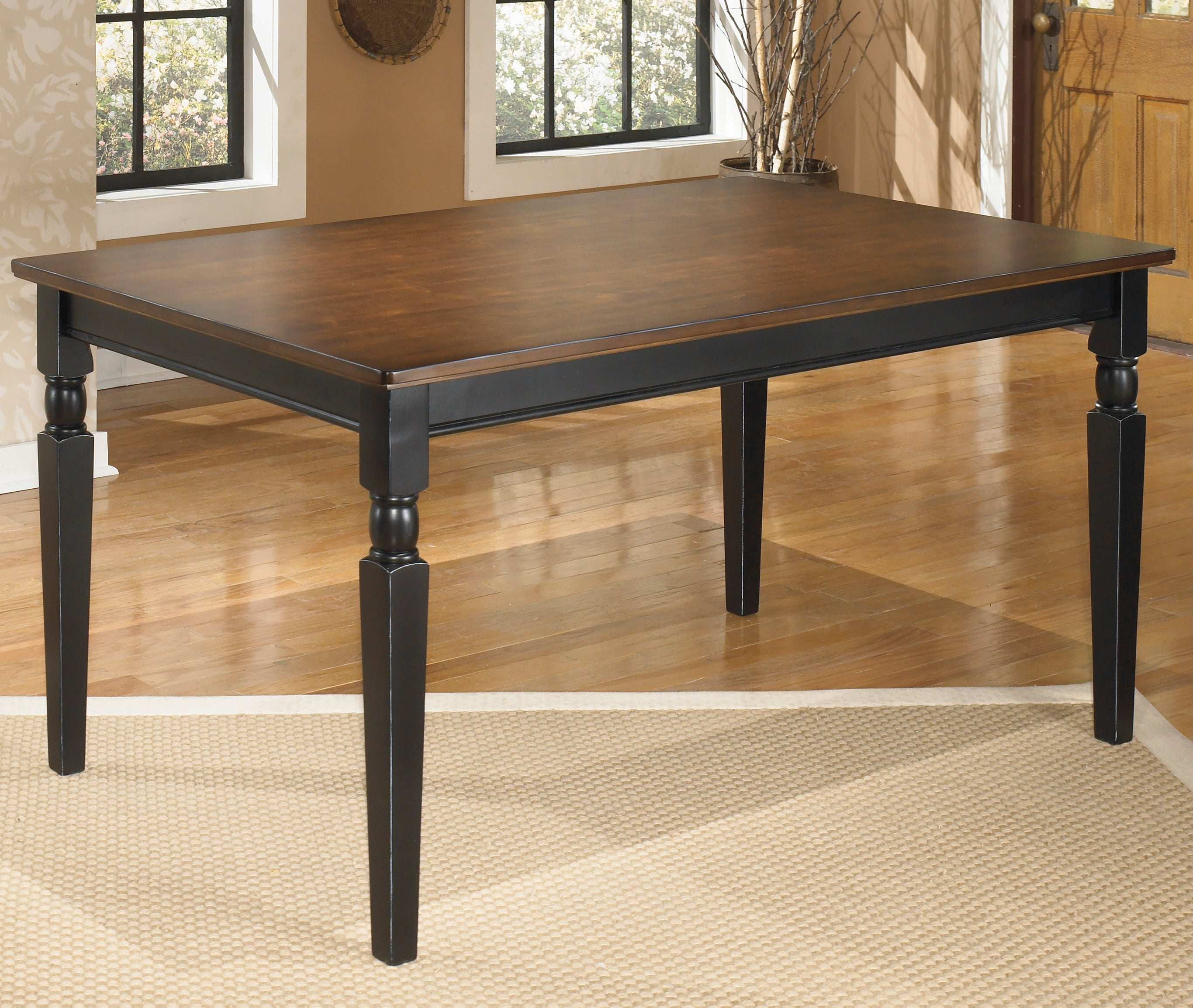 Owingsville Rectangular Black Brown Dining Room Table Overstock