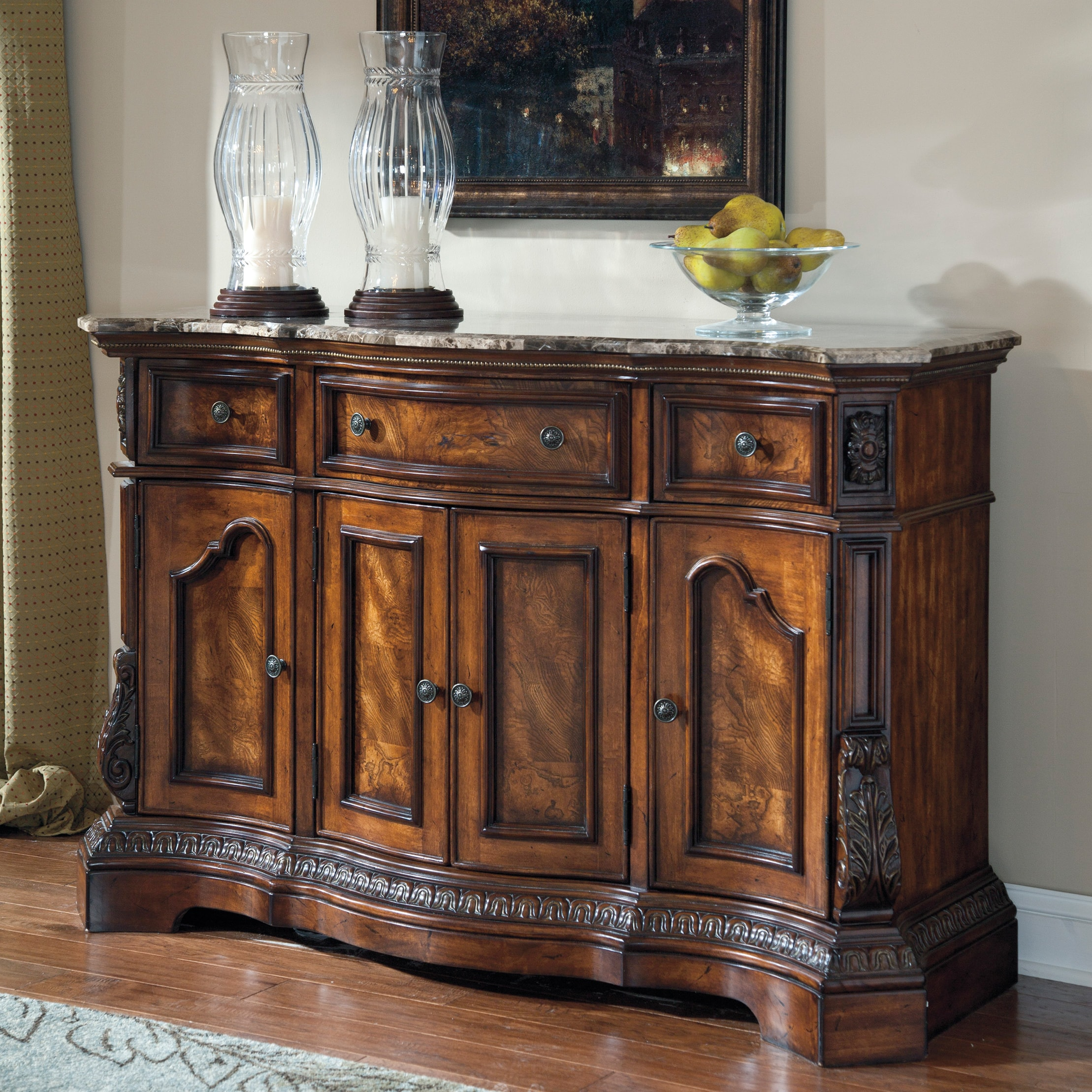 Signature Design by Ashley 'Ledelle' Dark Cherry Dining Room Server