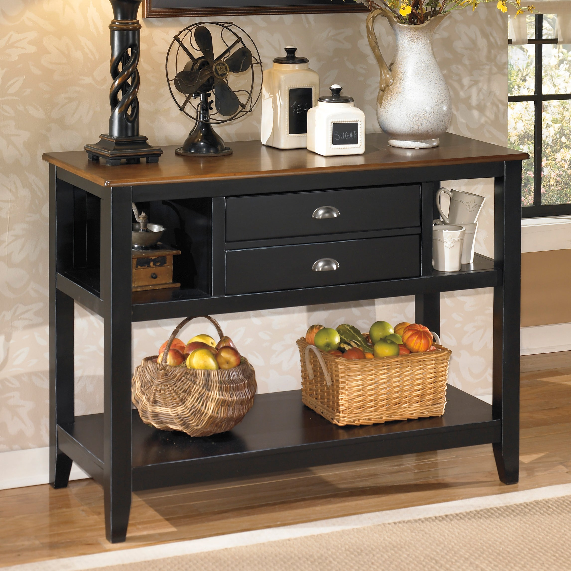 Signature Design by Ashley 'Owingsville' Black/ Brown Dining Room Server