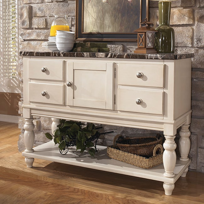 Signature Design by Ashley 'Manadell' White Dining Room Server