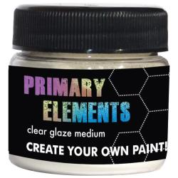 Primary Elements Clear Glaze Medium 1oz Jar -