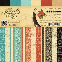 Couture Double-Sided Paper Pad 6 X6 - 36 Sheets -12 Pattern/Solid Designs, 3ea