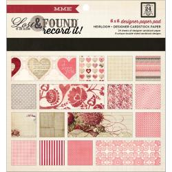Lost & Found Record It! Paper Pad 6 X6 24/Sheets - Heirloom; 8 Double-Sided Designs/3 Each