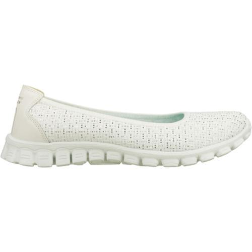 Women's Skechers EZ Flex 2 Illuminate White/Silver