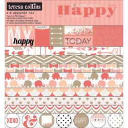 You Are My Happy Paper Pad 6 X6 24/Sheets -