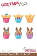 CottageCutz Die 4 X6 - Easter Cupcake Peepers