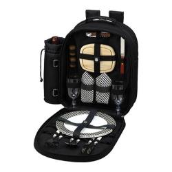 Picnic at Ascot Picnic Backpack for Two Black/Gingham
