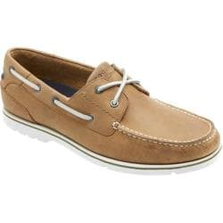 Men's Rockport Summer Tour 2-Eye Boat Golden Beige Leather