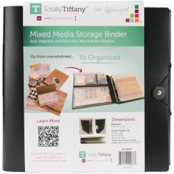 Totally-Tiffany Mixed Media Storage Binder - 11.8 X12 X2.5