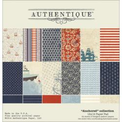 Anchored Paper Pad 12 X12 24/Sheets - 12 Double-Sided, Textured Designs/2 Each