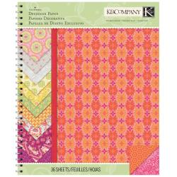Raspberry Lemonade Designer Paper Pad 8.5 X11 36/Sheets - Spiral Bound Double-Sided Cardstock