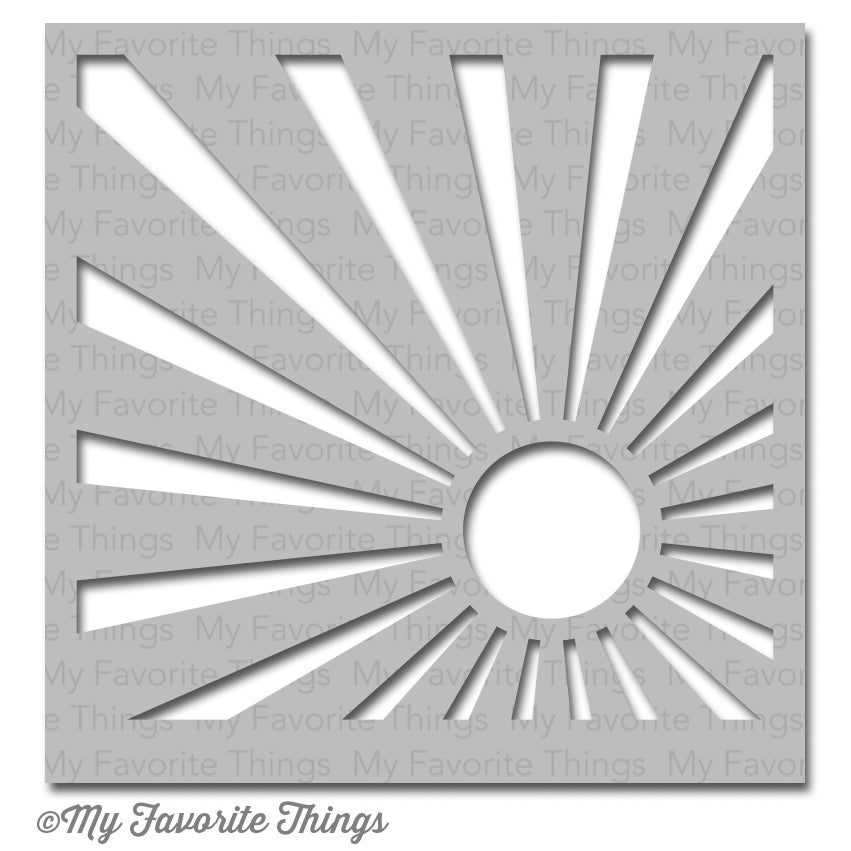 "My Favorite Things MIX-ables Stencil 6""x6""-Sun Ray"