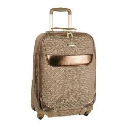 Anne Klein Signature Jacquard 24in Expandable Spinner Brown/Tan