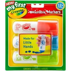 My First Crayola Washable Easy Grip Markers 3pc - Red, Blue And Green