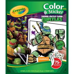 Color 'N Sticker Book - Teenage Mutant Ninja Turtles