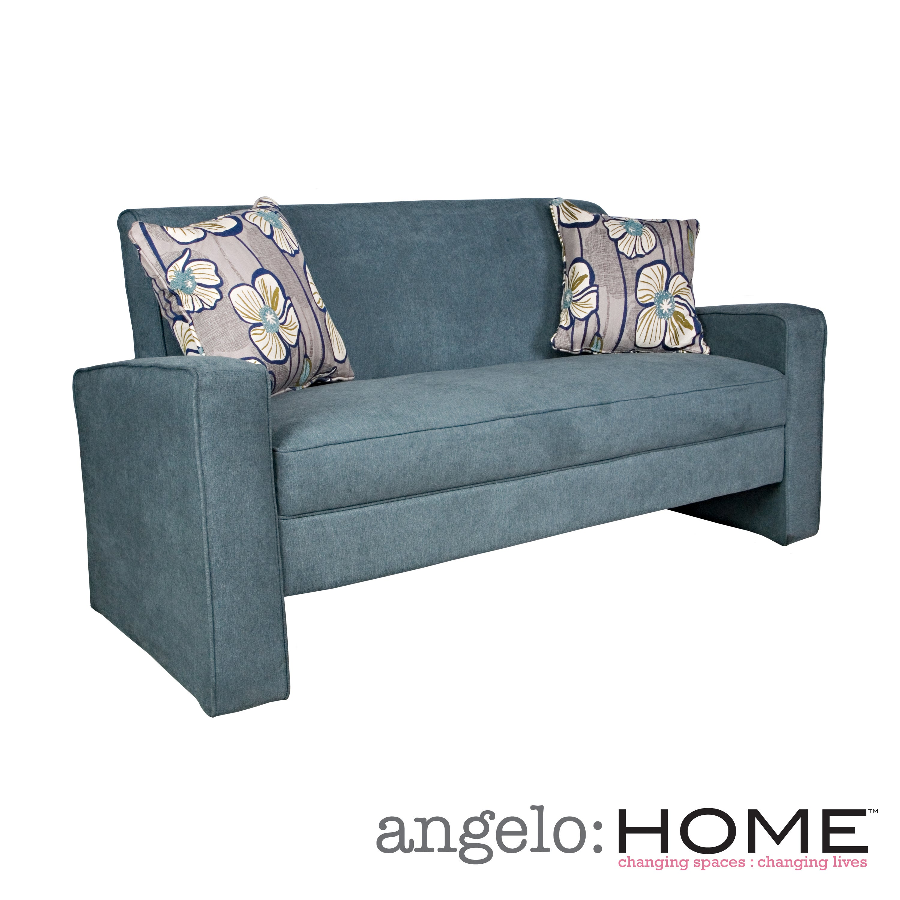 angelo:HOME Angie Parisian Blue Evening Velvet Sofa