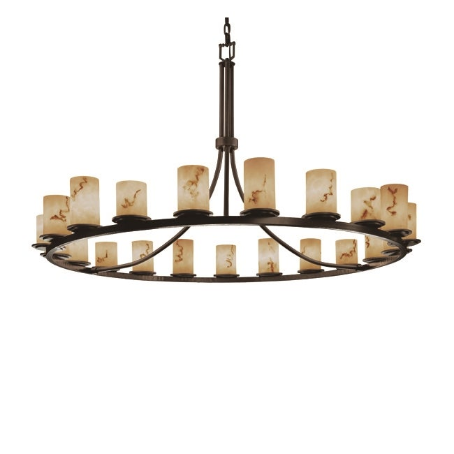 LumenAria 21-Light 1-Tier Dark Bronze Chandelier