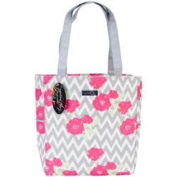 Everything Mary Chevron Roses Yarn Tote 13.5 X6 X15 -