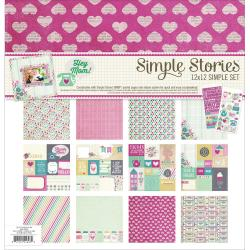 Simple Sets Mom Collection Kit 12 X12 - (6) 12 X12 Papers & (2) 6 X12 Stickers