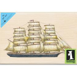 Inkadinkado Mounted Rubber Stamp 4 X2.75 - Tall Ship