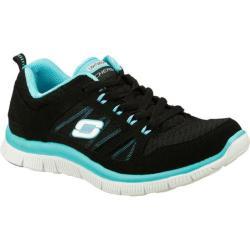 Women's Skechers Flex Appeal Adaptable Black/Blue