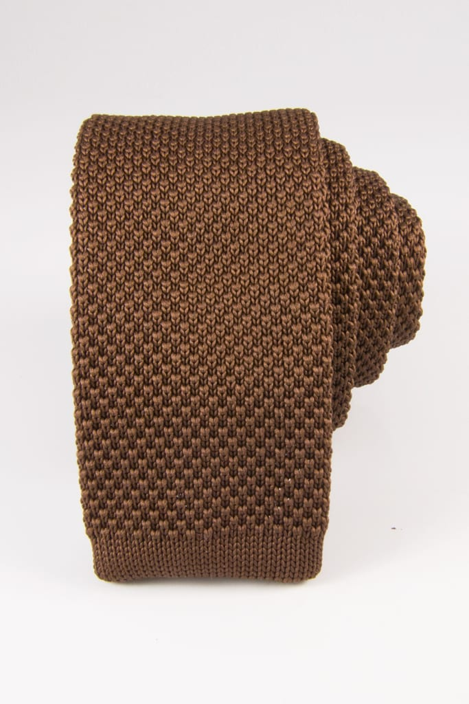 DIBI Light Brown Knit Tie