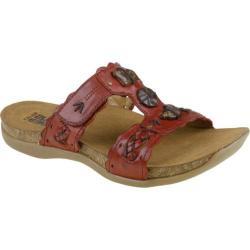 Women's Kalso Earth Shoe Encore Regal Red Full Grain Leather