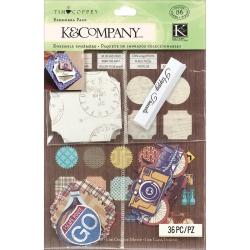 Travel Ephemera Pack 36 Pieces -
