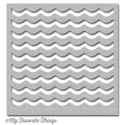 My Favorite Things MIX-ables Stencil 6 x6 - Waves