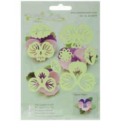 Lea'bilities Cut & Emboss Dies - Multi Flower 3 Pansy, 2.25 X2.25