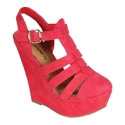 Women's Beston Carol-21 Pomegranate Faux Leather