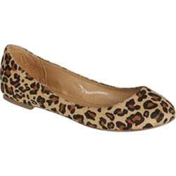 Women's Beston Cherry-11S Leopard Faux Suede