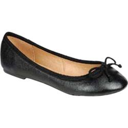 Women's Beston Cherry-22 Black Faux Leather