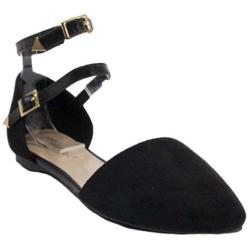 Women's Beston Diane-21 Black Faux Suede Faux Suede/Faux Leather
