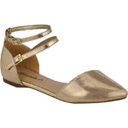 Women's Beston Diane-21 Gold Faux Leather Faux Suede/Faux Leather
