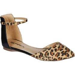 Women's Beston Dolley-21 Leopard Faux Suede Faux Suede/Faux Leather