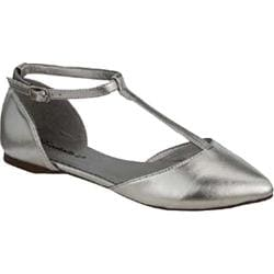Women's Beston Dolley-26 Silver Faux Leather
