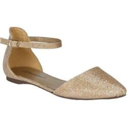Women's Beston Dolley-81 Champagne Faux Leather