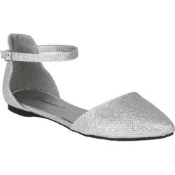 Women's Beston Dolley-81 Silver Faux Leather